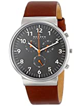 Skagen Ancher Chronograph Grey Dial Men's Watch - SKW6099