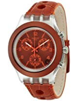 Swatch Denim Analog Orange Dial Men's Watch - SVCK4073