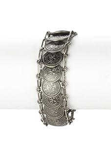 Rebecca Minkoff Light Antique Silver Coin Bracelet