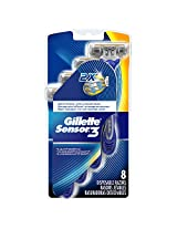 Gillette Sensor3 Smooth Men's Disposable Razors, 8 count