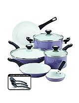 Farberware 12 Piece Ceramic Nonstick Cookware, Lavender