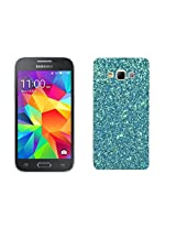 Majesty Sparkle Silicon Back Case Cover for Samsung Galaxy Core Prime G360 - Blue Back, Transparent Edges