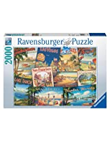 Vintage Vacations 2000 Piece Puzzle