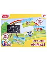 Funskool - Set Of 16 Animal Puzzles