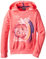 Lucky Brand Big Girls' Peace Out Pullover Sweatshirt