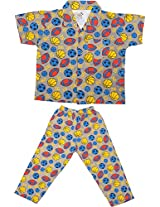 Little Stars Boys' Top and Pyjama Set (Nightsuit_MultiFootball_3-4 years, Multi-Coloured, 3-4 years)