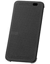 HTC  Dot View Case for HTC One (E8) - Retail Packaging - Warm Black