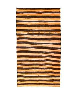 Design Community By Loomier Teppich Kilim Caucasico braun/lachs 176 x 314 cm