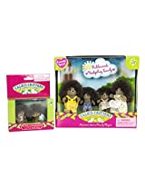 Maven Gifts: Calico Critters Pickleweeds Hedgehog Family with Pickleweeds Hedgehog Twins - Tricky Twins and Prickly Playful Family - Mix and Match - For Ages 3 and Up