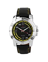 Evelyn Analogue Black Dial Men's Watch - B-130