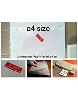 Lamination Paper Lamination Sheet Films Pouch Document A4 Big Sheets 100 Pieces Heavy Solid State