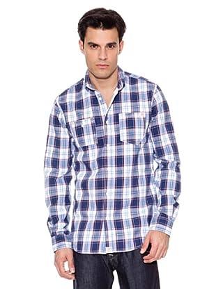 Pepe Jeans London Camisa Stoke (Azul / Blanco / Marino)