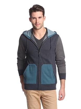 Union Jeans Men's Alpine Color Block Hoodie (Black Navy)