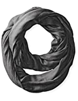 La Fiorentina Women's Solid Infinity Scarf, Gray, One Size