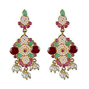 Pearl Paradise Multicolor earring for women.
