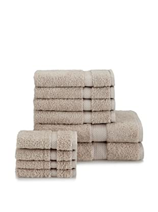Chortex of England Rhapsody Royale 10-Piece Towel Set, Stone