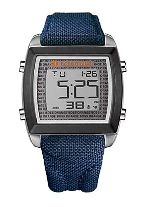 Boss Orange 1512607 - Reloj de Caballero movimiento de quarzo con correa téxtil azul