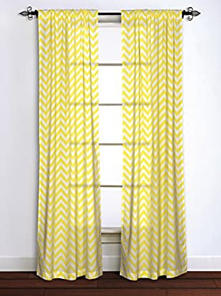 Rizzy Home Yellow Chevron Window Panel