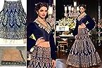 Deepika padukone royal blue lehenga