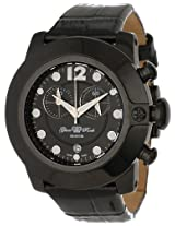 Glam Rock Women's GR32176-DEBZ Sobe-Mood Chronograph Black Dial Black Patent Leather Watch