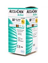 50 Strips for Accu-Chek Active Blood Glucose Monitor