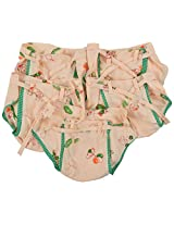 Kuchipoo Baby's 100% Cotton Cloth Double Layered Nappies Pack of 5 (Peach & Green, 0 to 6 Month)
