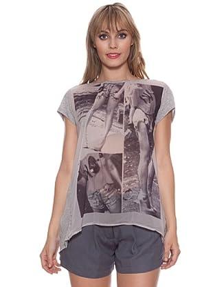 Santa Barbara Camiseta Foto (Gris)