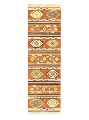 Hand Woven Izmir Wool Kilim, Dark Copper, 2' 5