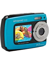 Polaroid IF045-BLUE-KM 14MP Dual Screen Waterproof Digital Camera with 2.7-Inch LCD (Blue) (Discontinued by Manufacturer)
