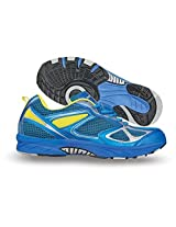 Nivia Men's Endeavour Mesh PVC Blue and Yellow Running Shoes - 6 UK