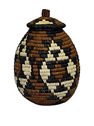 Asian Loft Zulu Ukhamba Wicker Basket, Multicolor