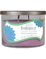 Candle-lite 12-Ounce 3-Wick Jar with Decorative Lid, Balance, Lavender and Patchouli