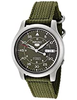 Seiko Analog Green Dial Men's Watch - SNK805