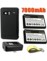 HTC Droid Incredible Extended Battery (2Pcs) and Door + Replacement Battery Charger + Exclusive Black And Green Color Key Chain Kit