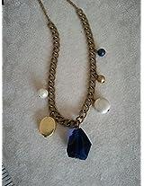 Knickknack Navy blue crystal multi charm chain