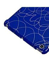 MyBat Back Protector Cover for iPad mini, Curved Lines Dark Blue Smart Slim (IPADMINIHPCBKIM1104WP)