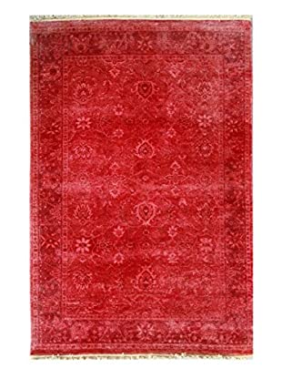nuLOOM One-of-a-Kind Hand-Knotted Vintage Overdyed Area Rug, Fire, 4' x 6'