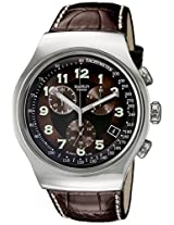 Swatch Irony Analog Brown Dial Men's Watch - YOS413
