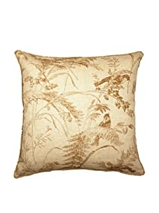 """Lacefield Designs Bird Toile 20"""" x 20"""" Pillow, Saddle"""