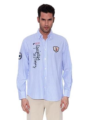 St. Tropez Camisa Peter (Blanco / Azul)