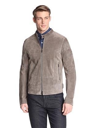 Jil Sander Men's Adamello Leather Jacket (Taupe)
