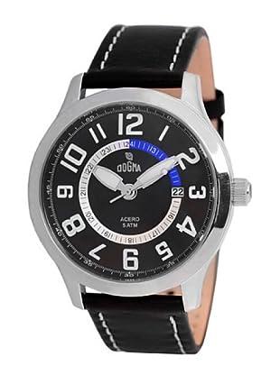 Dogma G7030 - Reloj de Caballero movimiento de quarzo con correa de piel azul