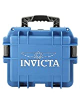 Invicta DC3BLU 3 Slot Blue Plastic Box Watch Case