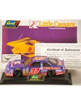 1996 - Revell-Monogram / NASCAR - Jeremy Mayfield #37 - Kmart / Little Caesars Pizza - Ford Thunderbird - 1:24 Scale Die Cast - On Base - Super Speedway Car - 1 of 5,004 made - COA - Rare - Limited Edition - Collectible