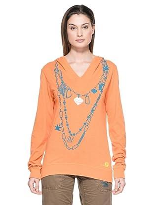 Salewa Sudadera Colier Co W L/S Hood (Naranja)