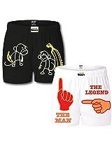 Gabi Men's Cotton Boxer Shorts (Pack Of 2) (MANBIGBSCMXL_Multi-Coloured_X-Large)