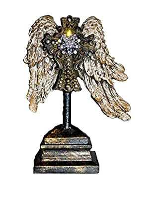MAC Sculpture Bently Mini Wing On Stand With Rhinestone Accent, Silver