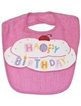 """Happy Birthday"" Bib (pink), Frenchie Mini Couture"