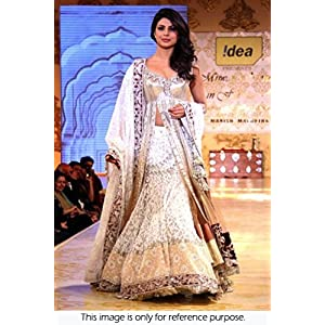 Bollywood Replica Priyanka Chopra Net and Velvet Lehenga