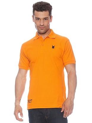 Polo Club Polo manga corta Custom Fit Escudo (Naranja)